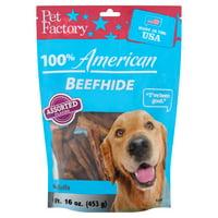 Pet Factory 100% American Beefhide Mini Rolls Dog Chews, Assorted Flavors, 16 Oz.