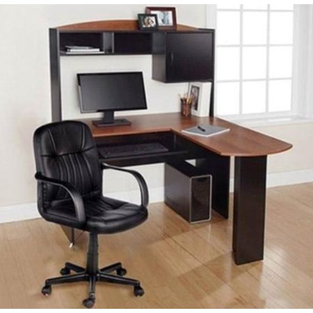 gymax home office l shaped corner computer desk - Home Office Corner Desk