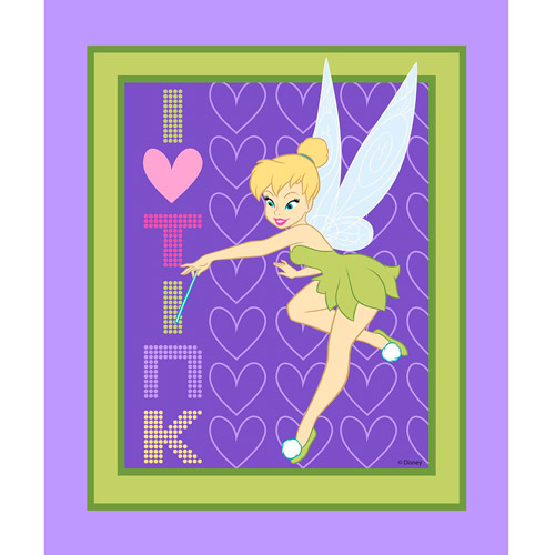 Springs Creative Disney Tink I Heart Tink Panel Fabric by the Yard