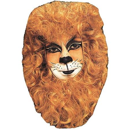Lion Mane Hair Piece Adult Halloween Accessory - Halloween Costume Ideas Brown Hair