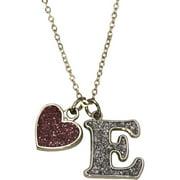 Glitter Initial E Necklace