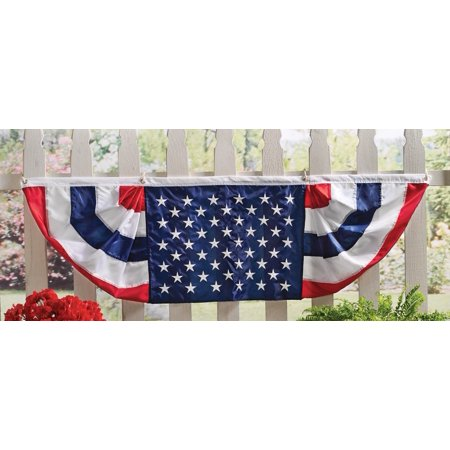 Patriotic 5 Ft Long American Flag Bunting, Traditional - Halloween Bunting Flags