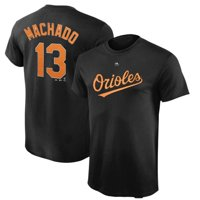 Manny Machado Baltimore Orioles Majestic Youth Player Name & Number T-Shirt - Black