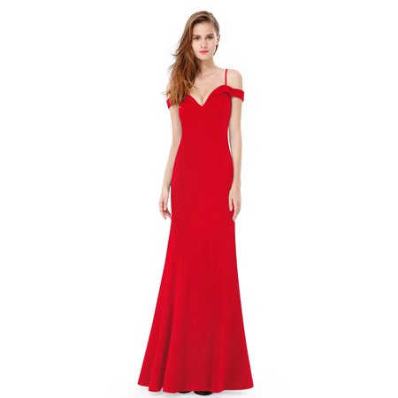 Ever Pretty Women S Y Off Shoulder Bodycon Fish Tail Floor Length Black Tie Evening Party Prom Homecoming Wedding Guest Dresses For