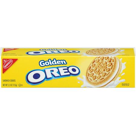 OREO Golden Sandwich Cookies, Vanilla Flavor, 1 Box (5.5 oz)
