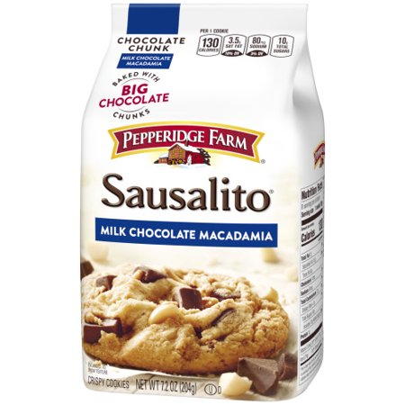 (2 Pack) Pepperidge Farm Sausalito Crispy Milk Chocolate Macadamia Cookies, 7.2 oz.