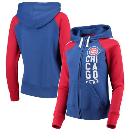 Chicago Cubs G-III 4Her by Carl Banks Women's Game Changer Raglan Full-Zip Jacket - Royal/Red