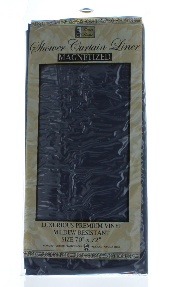 Shower Curtain Liner Navy Blue Mildew Resistant Vinyl