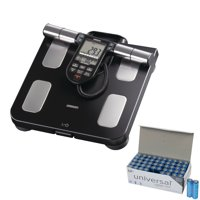 Omron HBF-516B Full-Body Sensor Body Composition Monitor + Scale With 7 Fitness Indicators (180-day Memory) & UPG AA 50 Pack