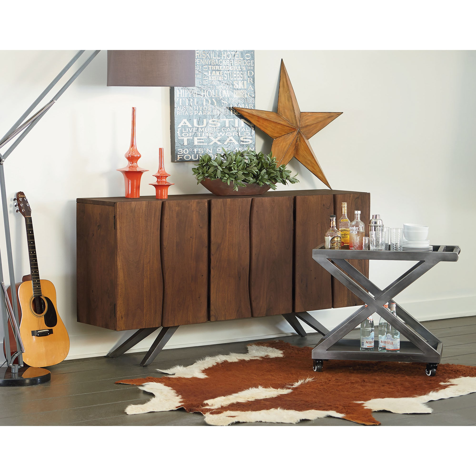 Marvelous Home Trends And Design Burghala Acacia Wood Sideboard