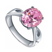 Stainless Steel Cubic Zirconia CZ Engagement Wedding Ring for Women Girls