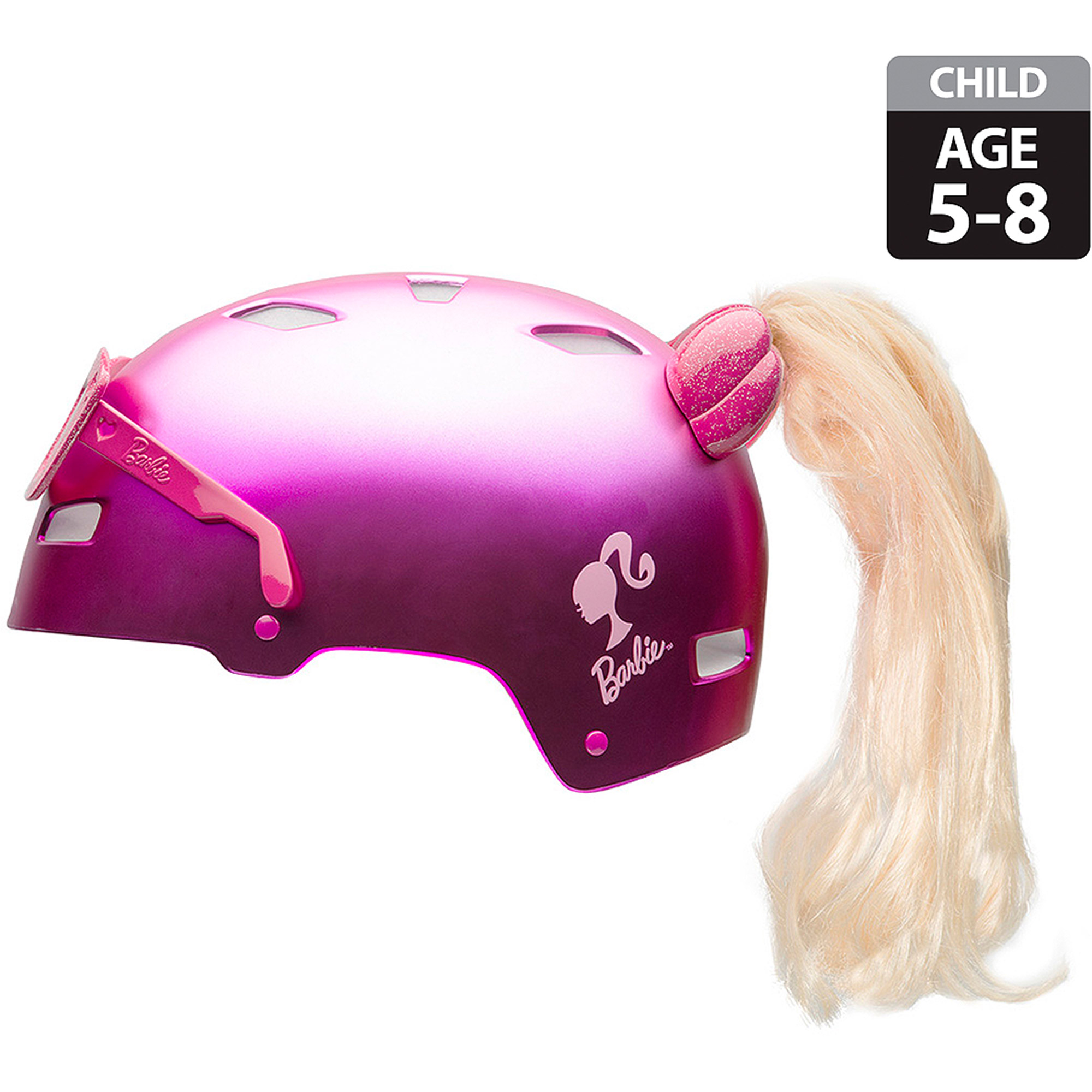 Bell Mattel Barbie Child 3D Multisport Helmet, Pink