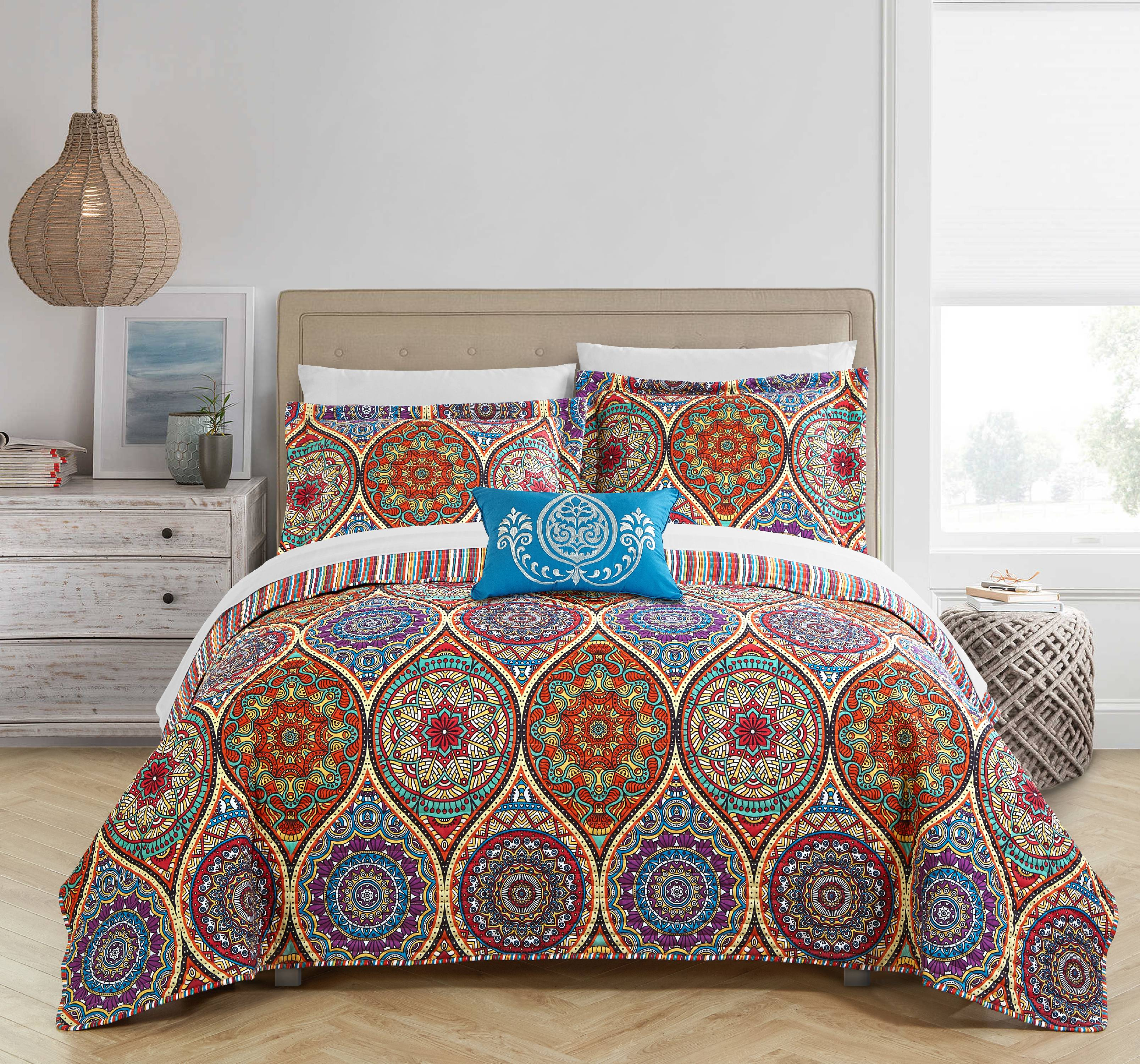 Chic Home Lena 4 Piece Reversible Quilt Set, Bedding Cover