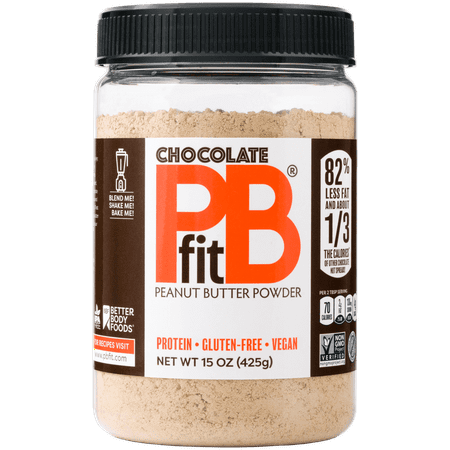 PBfit Chocolate Peanut Butter Powder, 15 oz (Double Chocolate Peanut Butter)