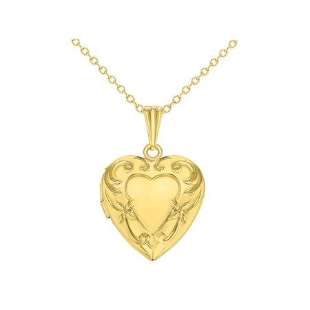 Love Heart Girls Locket Pendant Necklace Memories Teen Kids (Gold Filled Heart Locket)