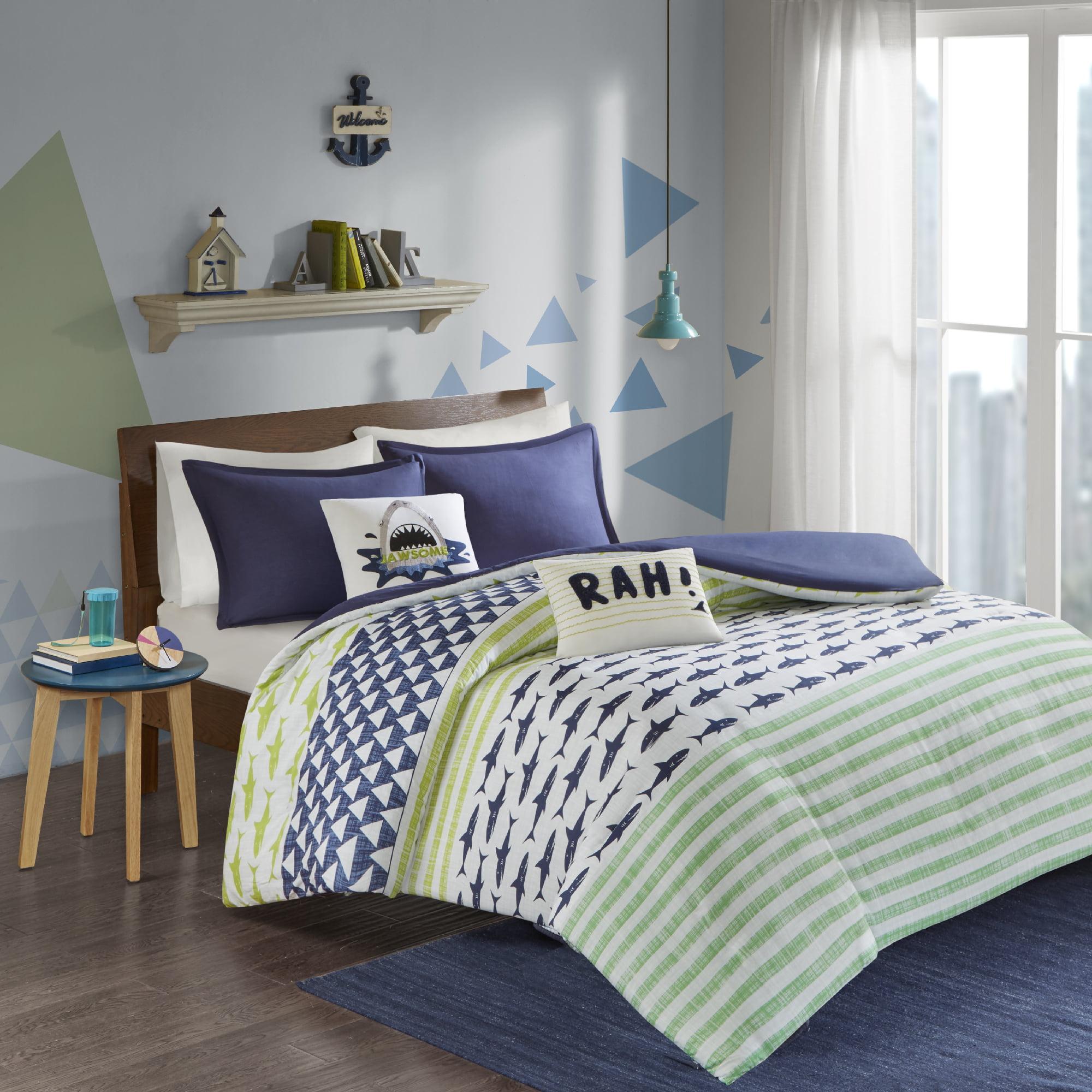 Home Essence Kids Luke Shark Printed Cotton Duvet Cover Set