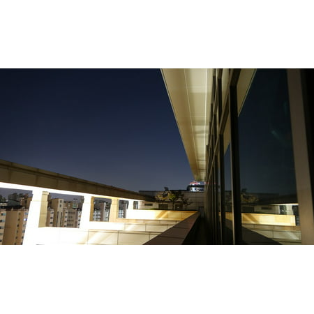 Canvas Print Reflections The Rooftop Building The Night Sky Stretched Canvas 10 x 14 ()