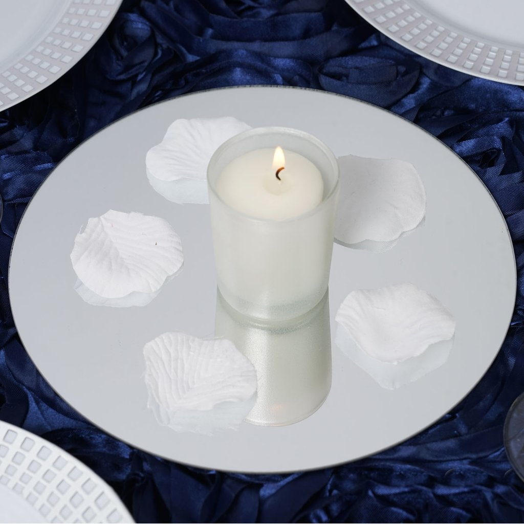 "Efavormart 8"" Round Glass Mirror Wedding Party Table Decorations Centerpieces - 6 PCS"