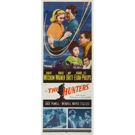 The Hunters Poster Movie Insert 14 x 36 Inches - 36cm x 92cm Robert Mitchum Richard Egan May Britt Lee Philips John Gabriel Stacy
