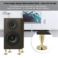 YLSHRF 8 Pairs 6 x 36MM Copper Speaker Spike Isolation Stand + Base Pad Feet Mat , speaker isolation, speaker isolation pad