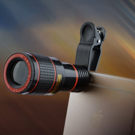 HD 12x Clip-on Zoom Optical Telescope Camera Lens Universal for Cell (Optical Zoom Leica Dc Lens)