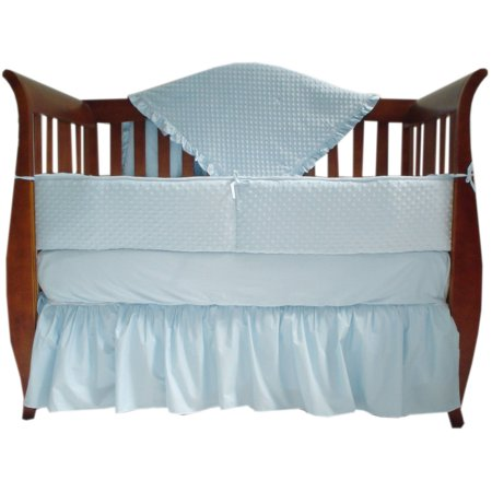 American Baby Company Heavenly Soft Minky dot 4-Piece Crib Bedding Set, -