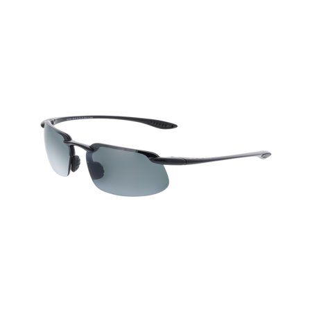 910a58a26 Maui Jim - Maui Jim Men's Polarized Kanaha 409-02 Black Semi-Rimless  Sunglasses - Walmart.com