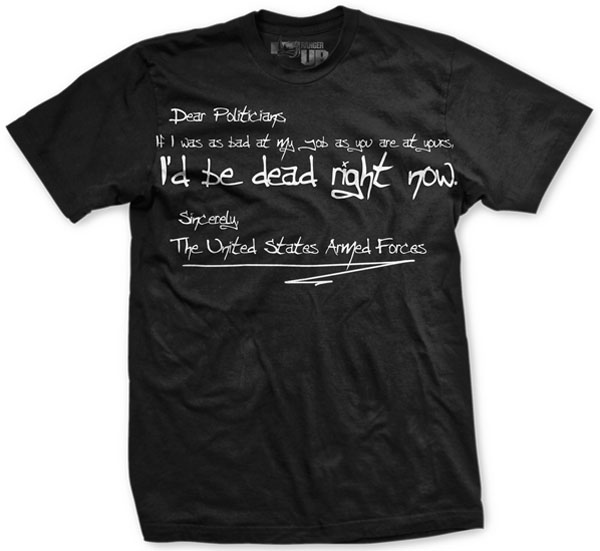 Ranger Up Dear Politicians T-Shirt - Black