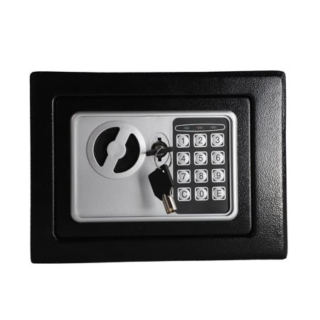 Ktaxon Small Light Black Steel Digital Electronic Safe Coded Box Home Office Hotel Gun (Electronic Safe Magnet)