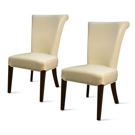 Bentley Bicast Leather Dining Chair (Set of 2), Multiple Colors