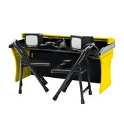 Black & Yellow Commentator Table Playset for WWE Wrestling Action Figures