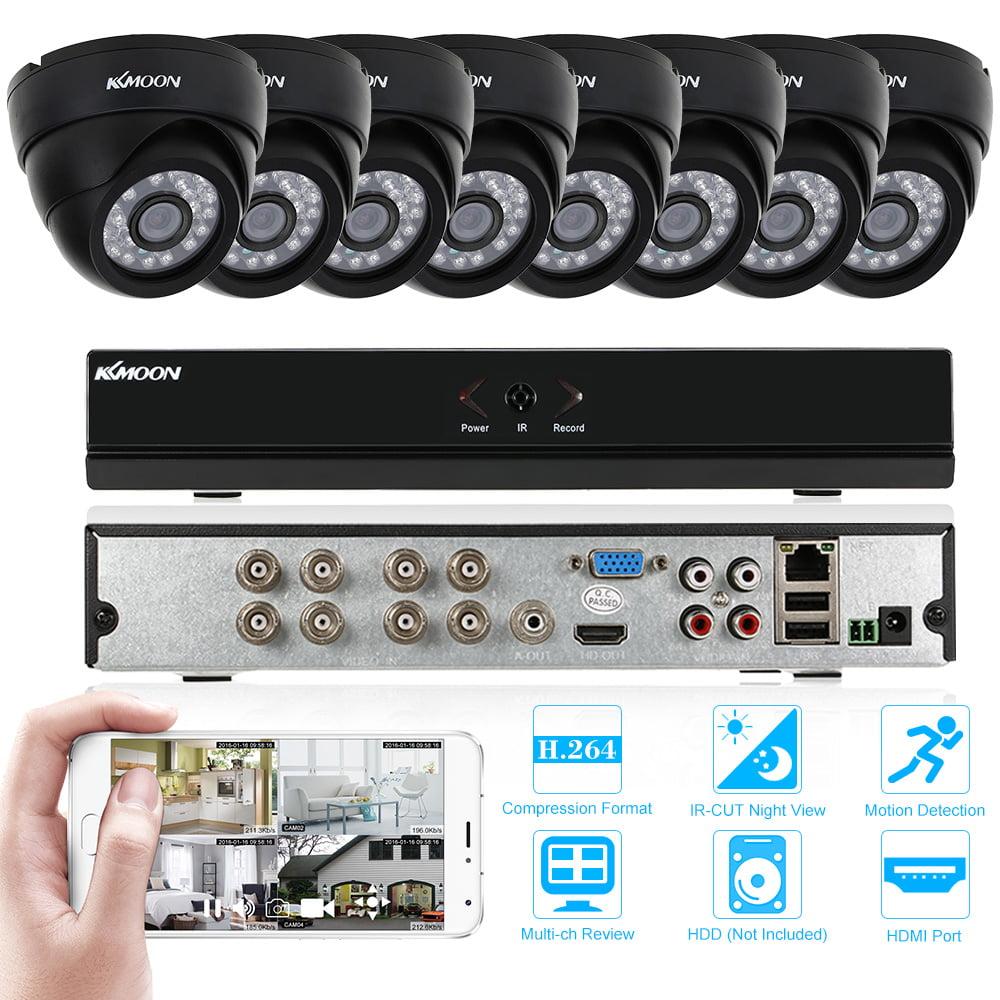 KKmoon 8-Channel H.264 960H/D1 DVR Home Surveillance Secu...