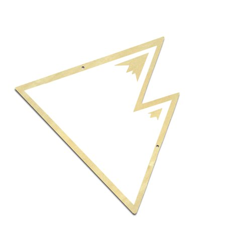 Electronicheart DIY Wooden Acrylic Hanging Mirror Mountain Shape Decorative Mirror Home Children Room Decoration - image 3 of 8