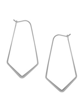 0789bec86 Product Image Geometric Chevron Threader Hoop Earrings - Lightweight Cutout  Thin Wire Drop Dangles, by Humble Chic