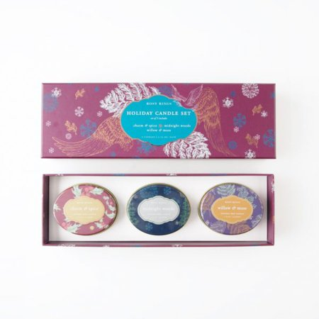 Rosy Rings Travel Tin Holiday Candle