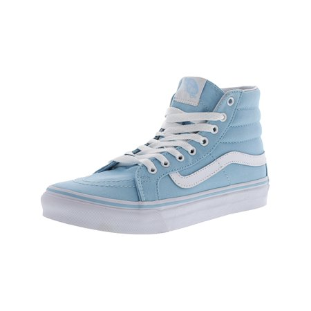 f05a07cc17 Vans - Vans Sk8-Hi Slim Crystal Blue   True White Ankle-High Canvas  Skateboarding Shoe - 9M 7.5M - Walmart.com