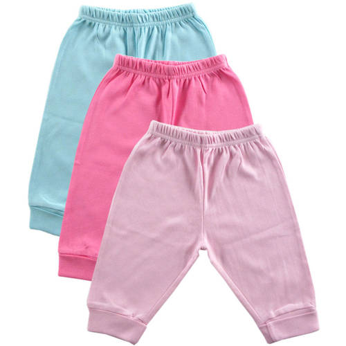 Luvable Friends Newborn Baby Girls Pants 3-Pack