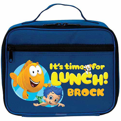 Personalized Bubble Guppies Blue Lunch Bag