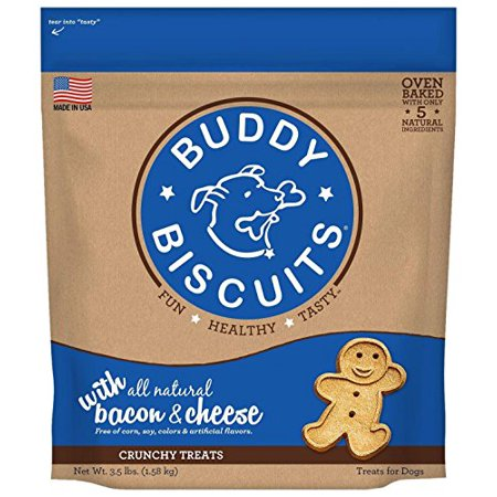 Buddy Biscuits Oven Baked Treats with Bacon & Cheese - 3.5