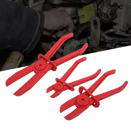 3Pcs Nylon Hose Clamp Tool Set Brake Fuel Water Line Clamp Plier Hands Free Tool, Hose Line Clamp Plier, Line Clamp (Nylon Line Clamps)
