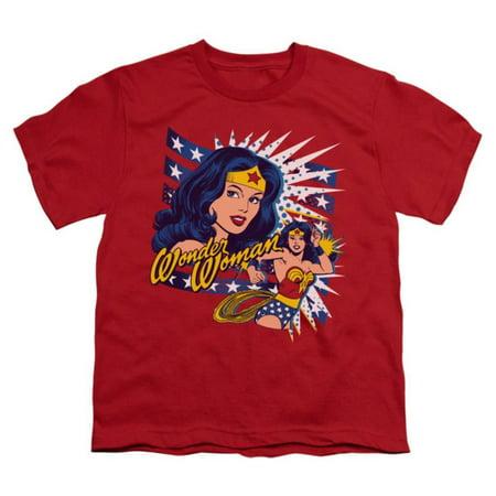 Youth: Wonder Woman - Pop Art Wonder Apparel Kids T-Shirt - Red
