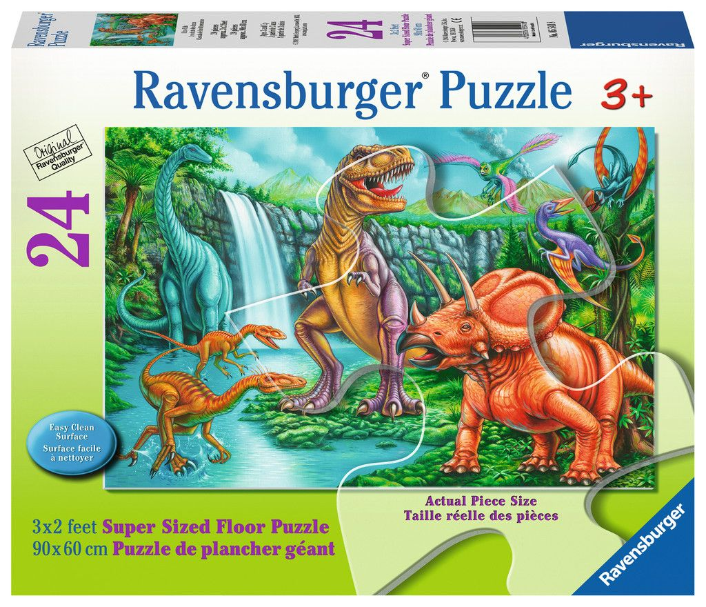 Dino Falls Floor Puzzle 24 pcs. Floor Puzzles by Ravensburger (05541) by Ravensburger