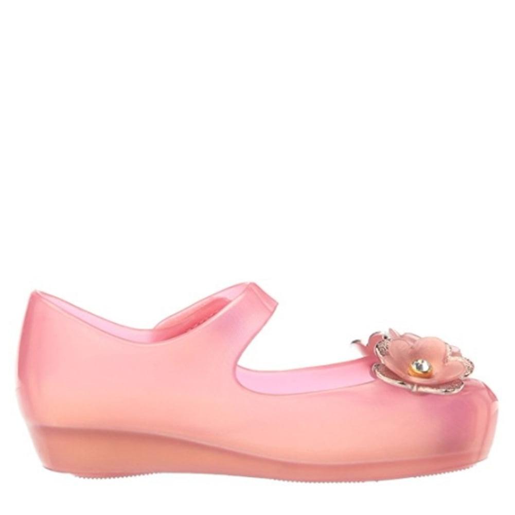 Mini Melissa 31950-19767 Mini Ultragirl Special Ballet Flat Pink Flower Pearly