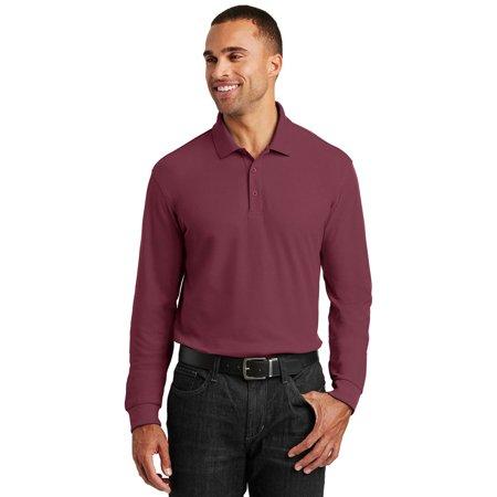 Port Authority Long Sleeve Core Classic Pique Polo Shirt