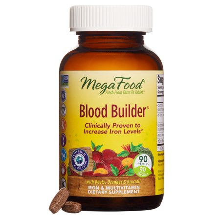 Healthy Hdl Cholesterol Levels (MegaFood - Blood Builder, Support for Healthy Iron Levels, Energy, and Red Blood Cell Production without Nausea or Constipation, Vegan, Gluten-Free, Non-GMO, 90 Tablets )