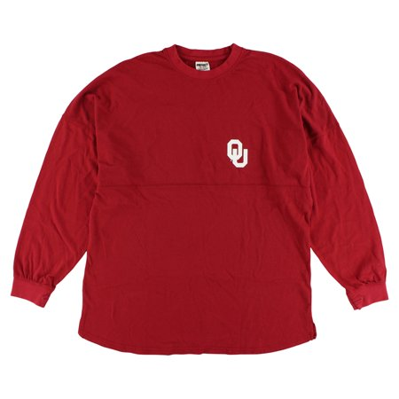 Press Box Womens Oklahoma Sooners Sweeper Long Sleeve T Shirt Red