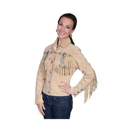 Women's Scully Boar Suede Jacket L152 (Ladies Tan Suede Jacket)