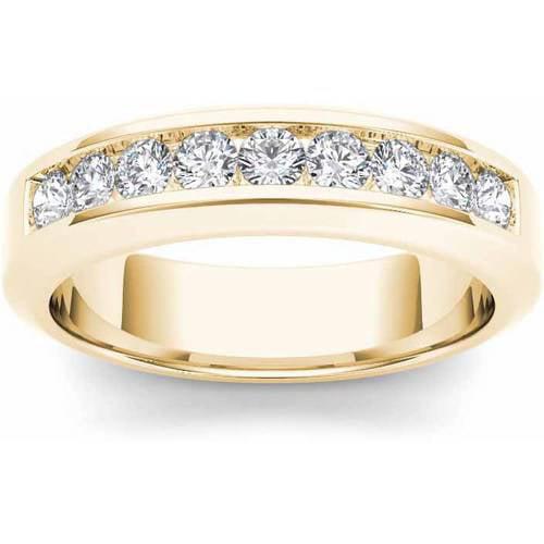 Imperial 1 Carat T.W. Diamond Men's 14kt Yellow Gold Wedding Band