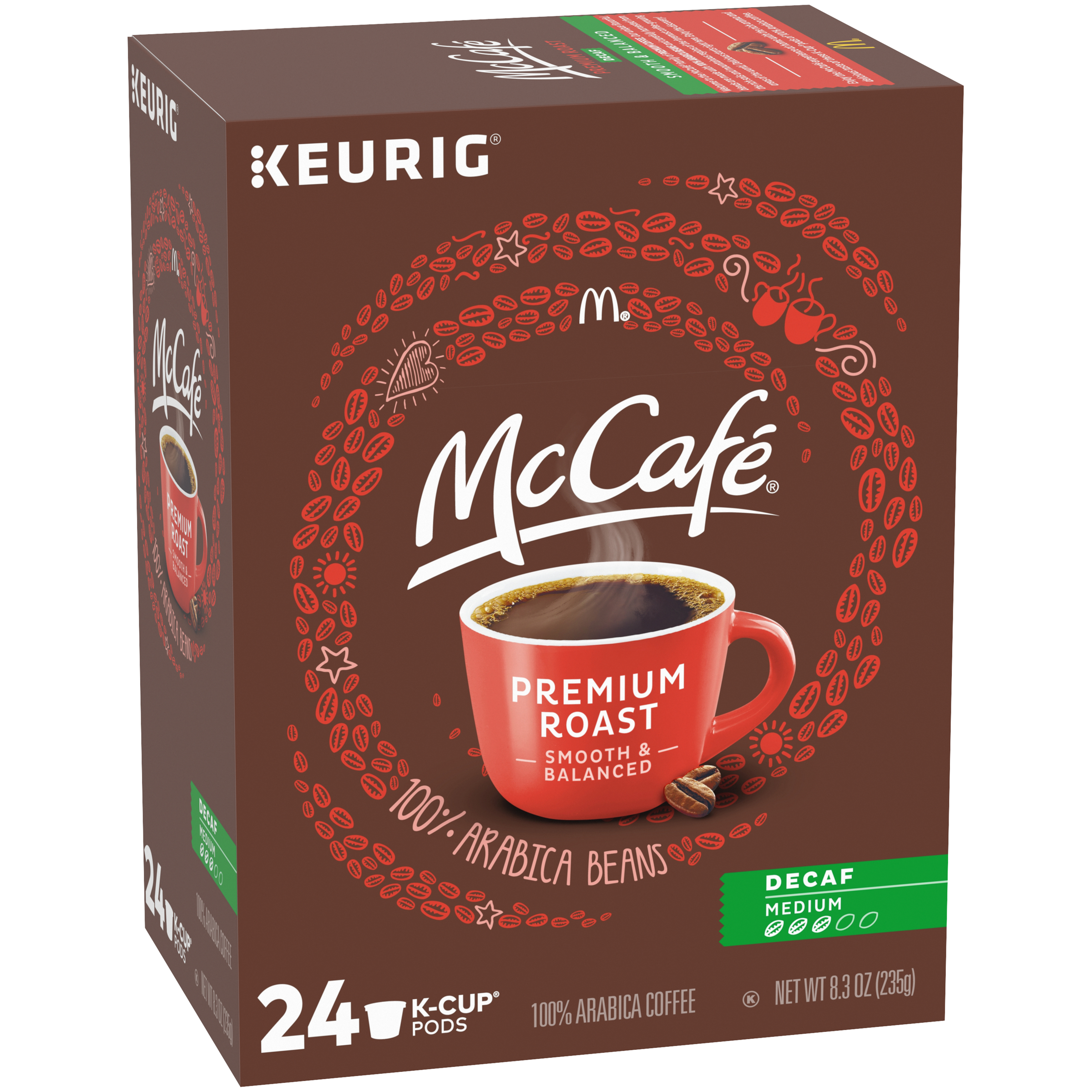 McCafé Decaf Medium Premium Roast Coffee K-Cup Pods, 24 count