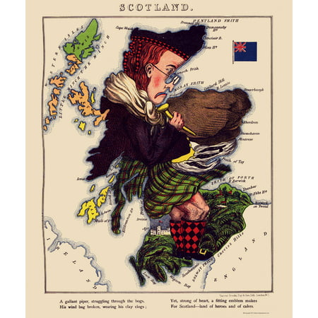 Old Great Britain Map - Scotland - Lancaster 1869 - 23 x 27 39